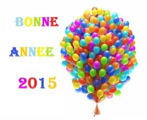 BONNE ANNEE 2015 BALLONS