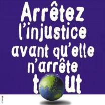 droits de l'homme arretez l'injustice