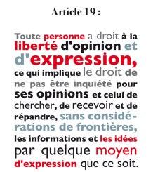 droits de l'homme article 19