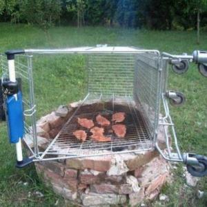 barbecue cart grill